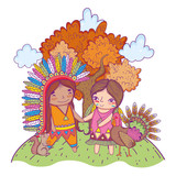 American indian girl cartoon - 227385299