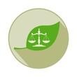 Экологический закон, нормы. Векторный значок.