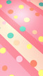 Colorful dots on pink stripes background. 3d rendering picture. - 227395606