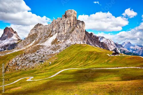 Foto Murales Passo Giau, popular travel destination in Dolomites