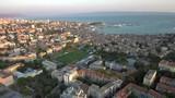 Drone shot of city Split in Croatia. The shot is taken in the evening. - 227406682