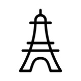 Paris Eiffel Tower France French Nation Holiday vector icon