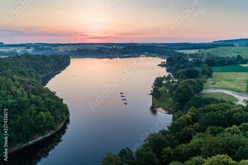 Foto Murales Lesnianskie lake aerial view
