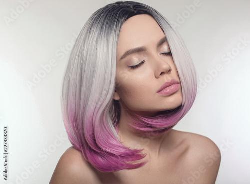 GamesAgeddon - Ombre bob short hairstyle. Beautiful hair coloring ...