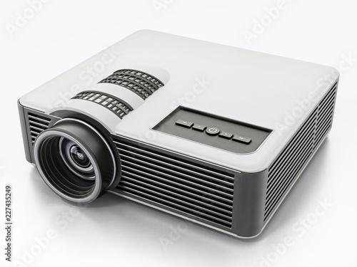 Rodzajowy projektor odizolowywający na białym tle. 3D ilustracji