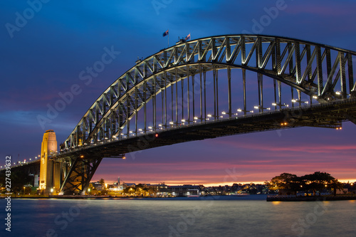 Obraz na płótnie Sydney Harbour Bridge Sunset