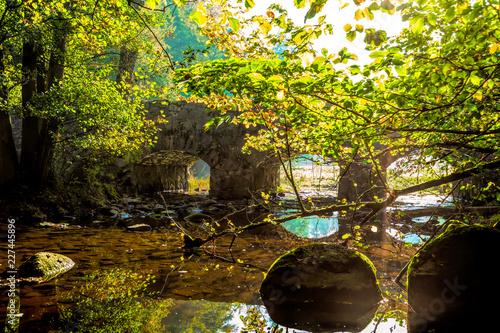 Fototapeta Stenbro över vattendrag