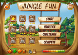 Monkey jungle game template - 227449238