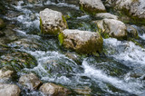 Large stones in a mountain river