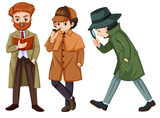 Set of detective character - 227449624