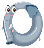 Cute elephant zero number - 227449640