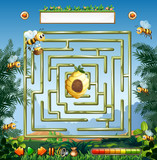 Bees and beehive maze game - 227449831