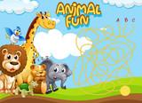 Animals maze game template - 227450033