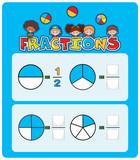 A math fractions worksheet - 227450036