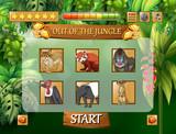 Wild animals jungle game template - 227450621