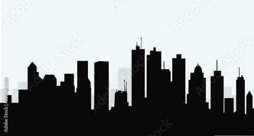 Wall mural Morning City Skyline