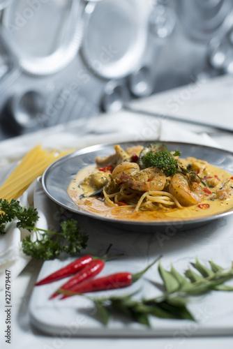 pasta with tomato sauce - 227479447