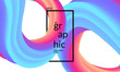 Trendy geometric background. 3d Fluid shape illustration. Eps10 vector. - 227487647