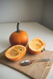 Sliced Pumpkin for food preparation