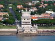 canvas print picture - Torre de Belém vor der Stadt