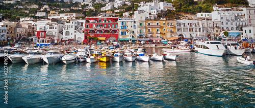 boats in Capri harbor - 227496023