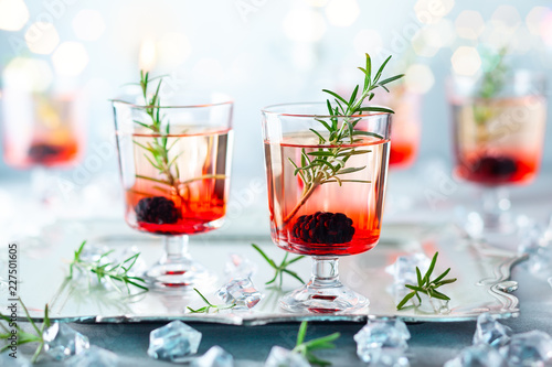 Leinwanddruck Bild Winter berry cocktails