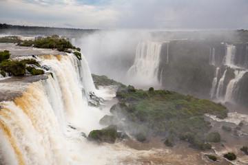 dramatic breathtaking landscape of Iguazu waterfalls