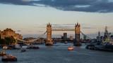 time lapse of Tower Bridge at sunset, London, UK