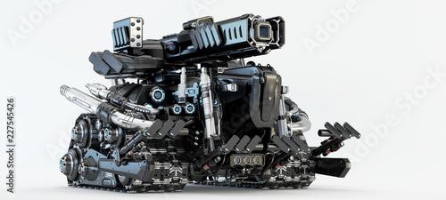 Sci-fi vehicle, 3d illustration - 227545426