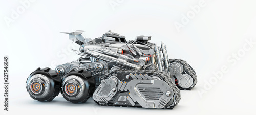 Sci-fi vehicle, 3d illustration - 227546049