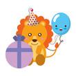 cute lion gift balloon kawaii birthday - 227547247