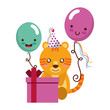 cute tiger gift balloon kawaii birthday