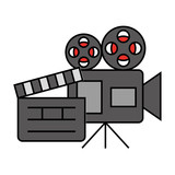 cinema movie projector camera clapboard - 227555817