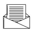 Envelope open symbol