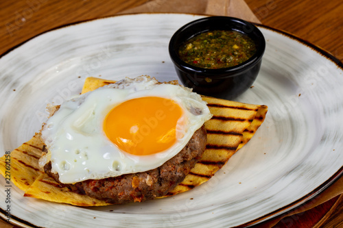 Beef cutlet with egg - 227601258