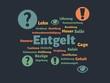 Leinwanddruck Bild - Das Wort - Entgelt - abgebildet in einer Wortwolke mit zusammenhängenden Wörtern