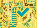 Das Wort - Kirmes - abgebildet in einer Wortwolke mit zusammenhängenden Wörtern