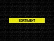 Neutrales Bild auf dem das Wort Sortiment abgebildet ist. Abstrakte Illustration - 227604200
