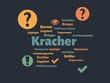 Das Wort - Kracher - abgebildet in einer Wortwolke mit zusammenhängenden Wörtern - 227604868