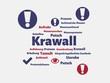 Das Wort - Krawall - abgebildet in einer Wortwolke mit zusammenhängenden Wörtern - 227604881