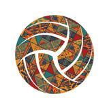 Volleyball pattern symbol