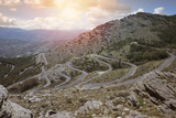 Zigzag road in the mountains in the Spain. - 227622627