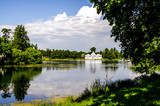 A large pond of the Catherine Palace