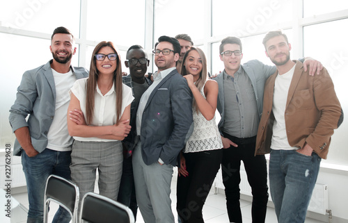 Foto Murales portrait of a professional business team standing in a modern office