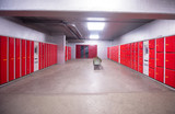 red safety lockers - 227632416