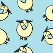Sheeps on blue background, seamless pattern image - 227634623
