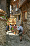 People walk the streets of the old town