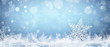 Quadro Snowflake On Natural Snowdrift Close Up - Christmas And Winter Background
