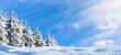 Leinwandbild Motiv winterlandschaft panorama
