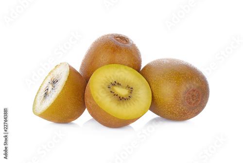 Golden Kiwi fruit isolated on white background